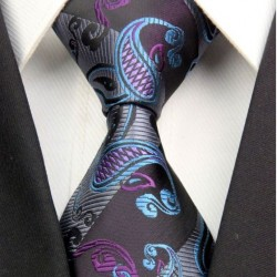 Kašmírová hedvábná kravata černá NT0405
