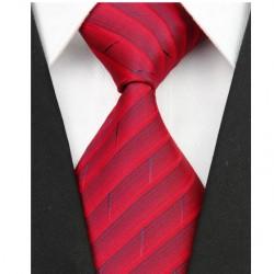 Hodvábna kravata červená NT0104