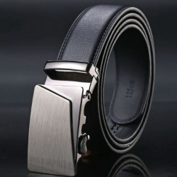 Pánský kožený pás černý