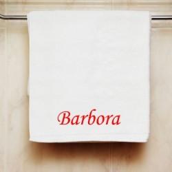 Ručník se jménem Barbora