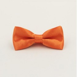 Dětský Oranžový motýlik s pevným uzlom