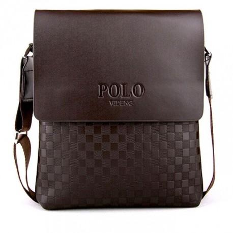 Pánská taška POLO přes rameno hnědá
