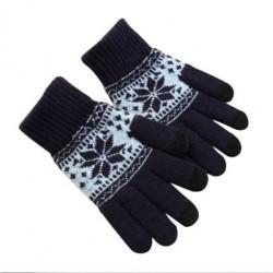 Zimní rukavice s norským vzorem černé