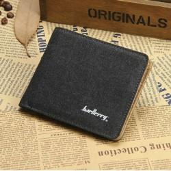 Pánská plátěná peněženka černá