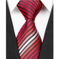 Hodvábna kravata červená NT0001