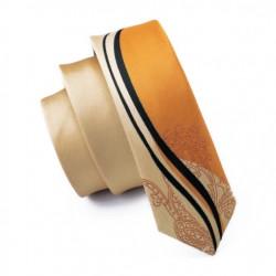 Pánská hedvábná Slim kravata žlutá