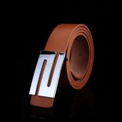 Unisex kožený opasek světle hnědý