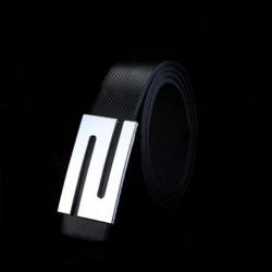 Unisex kožený opasek černý