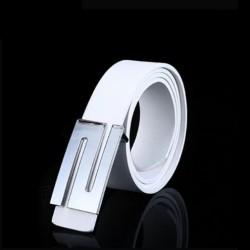 Unisex kožený opasek bílý