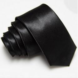 Úzka SLIM kravata čierna