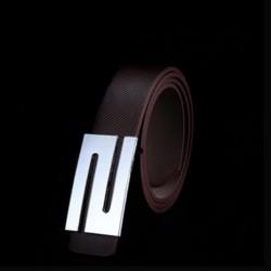 Unisex kožený opasek tmavě hnědý