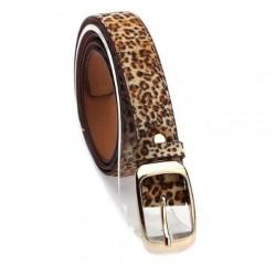 Dámský kožený opasek leopardí