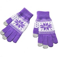 Zimní rukavice s norským vzorem červené