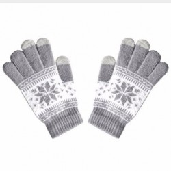 Zimní rukavice s norským vzorem šedé