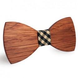 Mahoosive Dřevěný motýlek hnědý Brody