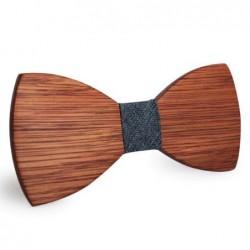 Mahoosive Dřevěný motýlek hnědý Brady