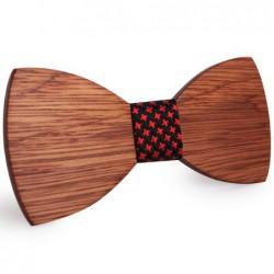 Mahoosive Dřevěný motýlek hnědý Balint