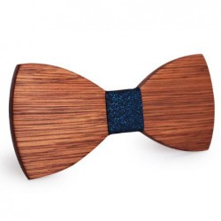 Mahoosive Dřevěný motýlek hnědý Bacon