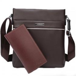 Pánská taška VORMOR přes rameno hnědá s peněženkou