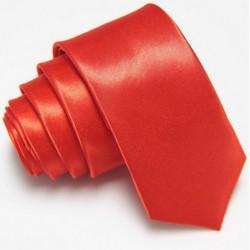 Úzka SLIM kravata červená