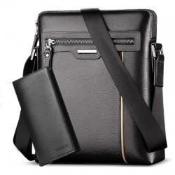Pánská taška VORMOR přes rameno černá s peněženkou