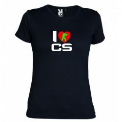 Tričko I love CS dámské