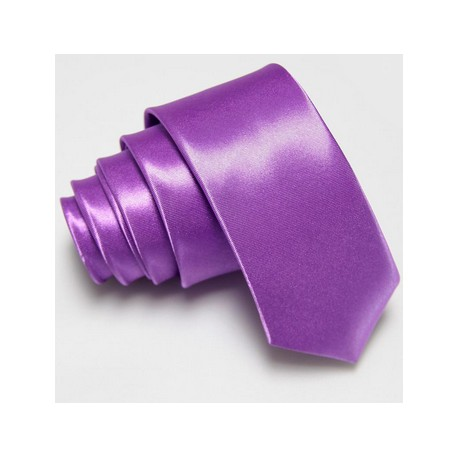 Úzka SLIM kravata fialová