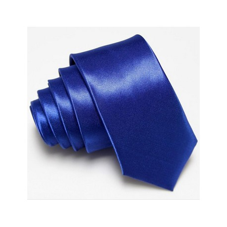 Úzka SLIM kravata modrá
