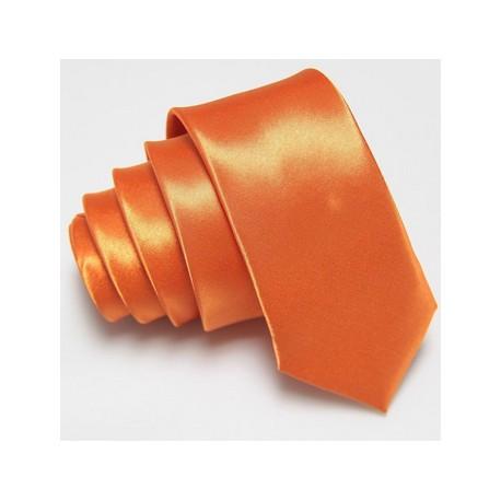Úzka SLIM kravata oranžová