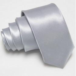 Úzka SLIM kravata strieborná