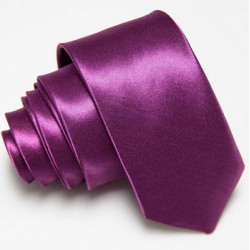Úzka SLIM kravata tmavo fialová