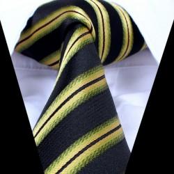 Hodvábna kravata čierna LD0735